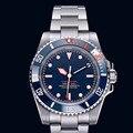 2019 Luxe Merk Nieuwe Mannen Automatische Mechanische Horloges Zilver Rood Zwart Groen Blauw Rvs Keramische Bezel Saffier Horloge