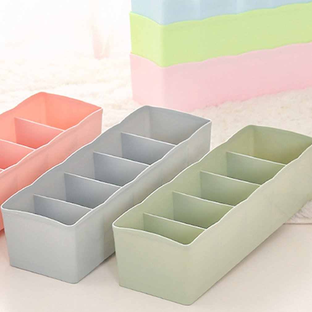 Plastic Desktop Organizer Sokken Storage Case Beha Banden Sorteren Box Draagbare Ondergoed Organizer Woonaccessoires