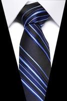 Wedding Men's Ties Stripe Lattice 7.5cm 100% Silk Jacquard Woven Floral Necktie Accessories Cravat Formal Dress Wedding Party