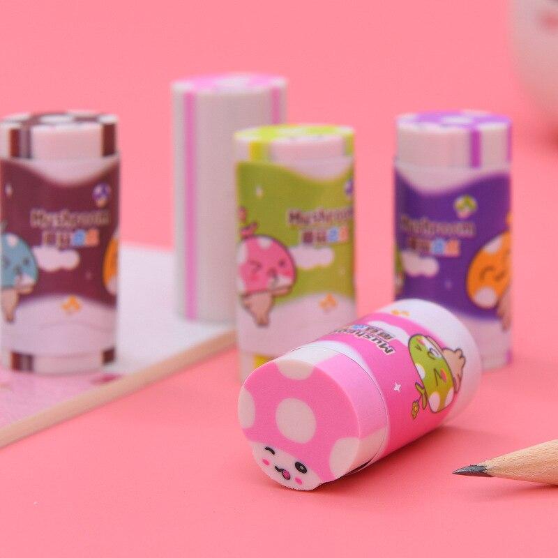 1 Pcs Creative Mushroom Color Student Erasers Student Stationery Erasers Wholesale  Sumikko Gurashi