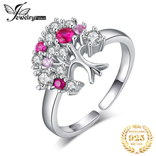 JewelryPalace Tree Of Life Created Red Ruby Ring 925 Sterling Silver Rings for Women Party Cocktail Ring Silver 925 Jewelry цена 2017