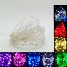 Рождественский открытый светодиодный гирлянда 1-10 м водонепроницаемый светодиодный Сказочный свет для свадебной вечеринки Рождественский праздничный свет
