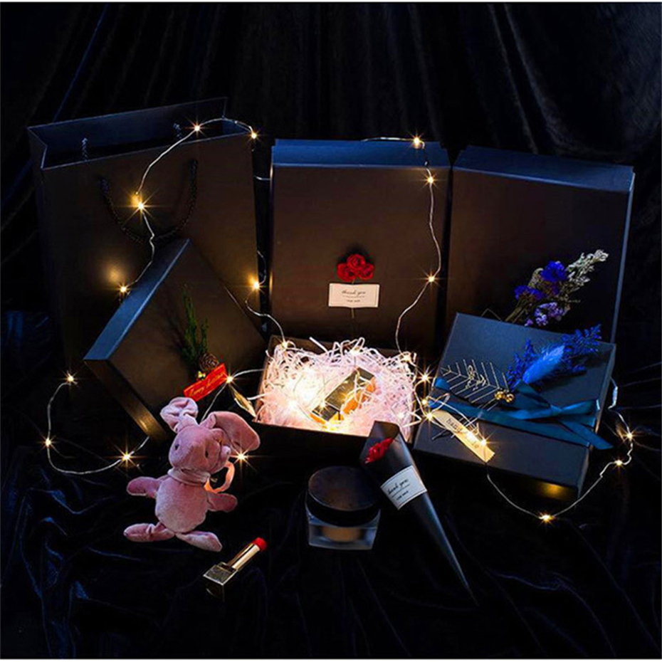 Mini Button Battery Box Copper Light Valentine's Day Gift Decoration Rgb Garland Lights String For Giving Party Bedroom Wedding