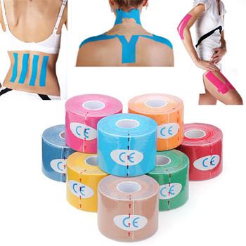 5M * 5CM wodoodporny oddychający sport bezpieczeństwo kinezjologia taśma mięśniowa opieka zdrowotna fitness opieka zdrowotna bawełniana gumka tanie i dobre opinie Love·Thanks Masaż i relaks
