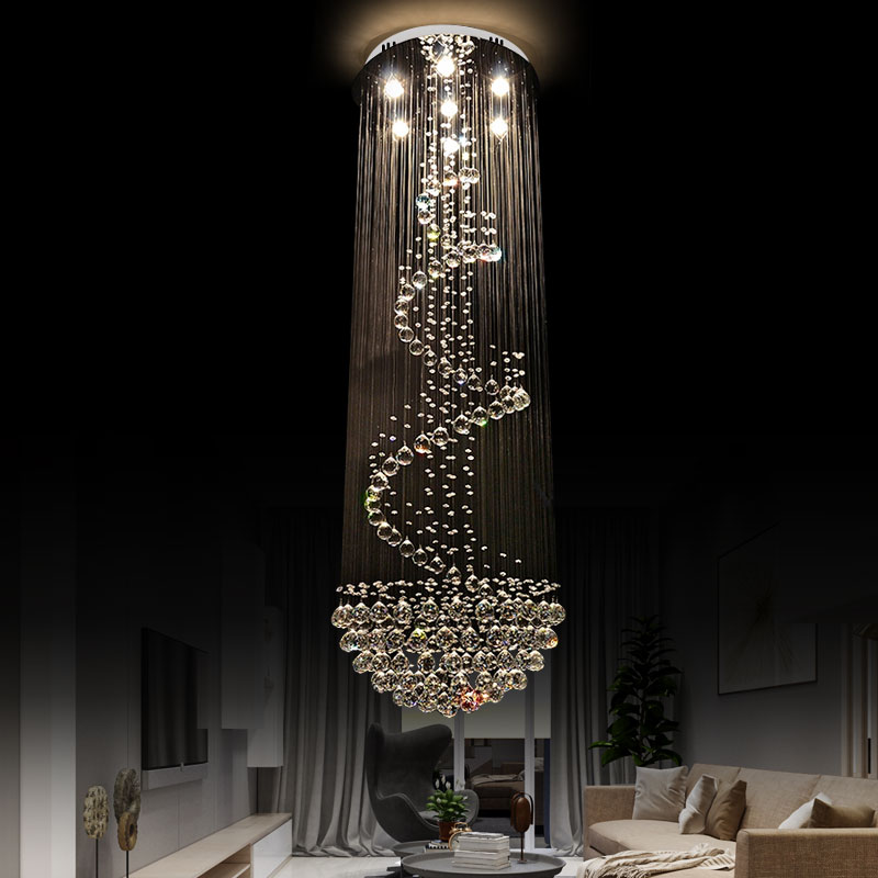 Luxury Crystal Chandelier Spiral And