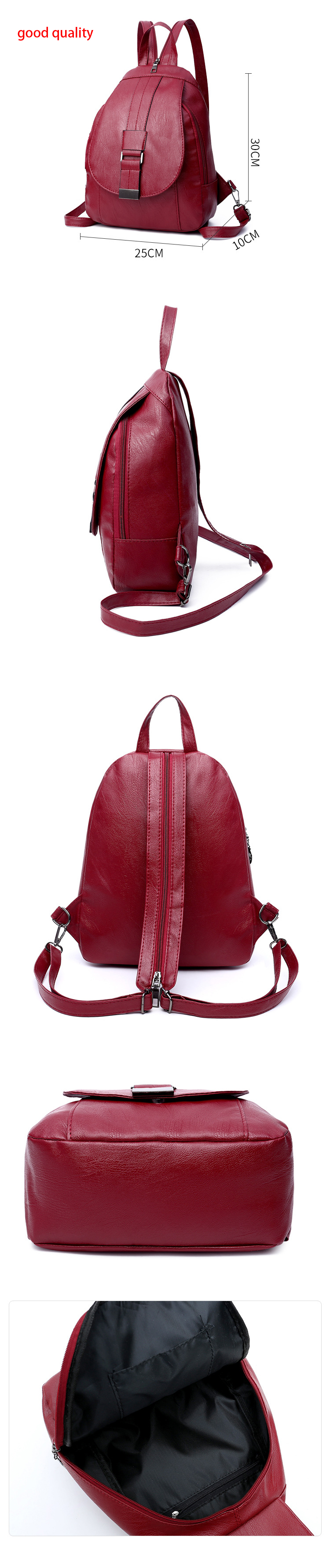 Women's Vintage Leather Backpack 22