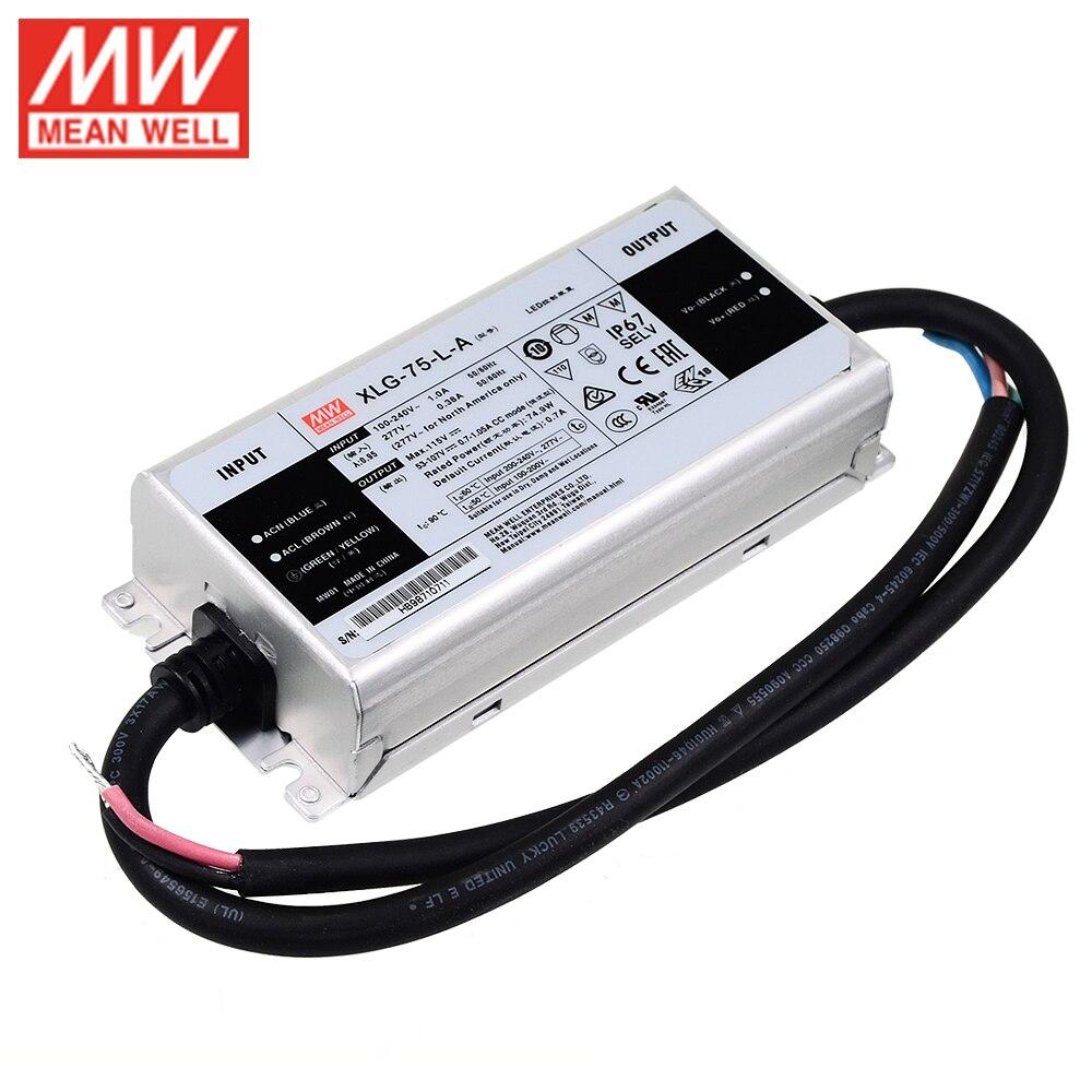 Светодиодный драйвер MEAN WELL, светодиодный, 75 Вт, 53-107 в, 700 мА, регулируемый