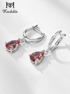Kuololit Clip Earrings Created-Color-Change-Earrings Fine-Jewelry Gemstone Wedding 925-Sterling-Silver