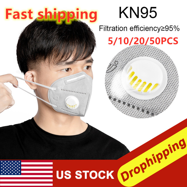 50Pcs Prevent Flu KN95 Face Mask N95 Respirator Dust Mouth Masks Formalde Hyde Bacteria Proof Safety As KF94 Ffp2 Dropshipping