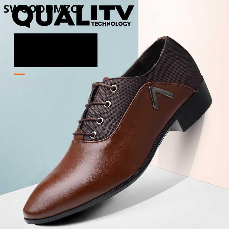 Formele schoenen mannen klassieke italiaanse merk oxford schoenen voor mannen bruin jurk Coiffeur luxe designer schoenen mannen kantoor big size 48 trouwjurk 2019 zapatos de hombre formele zapatos oxford hombre sapato