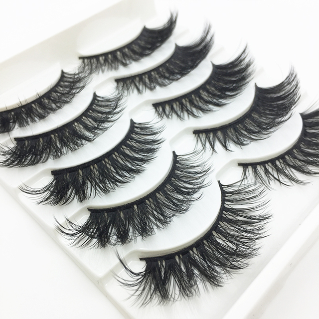 LTWEGO 5 pairs faux 3d mink lashes fluffy wispy false eyelashes natural long eyelash extension makeup handmade fake lash 3D-21 Beauty & Health