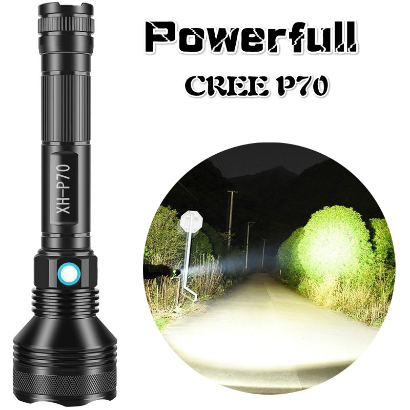 Super Powerful Led Cree P70 Warm White Light Lamp USB Charging Torch Outdoor Lighting Hunting Lamp Tactical Flashlight