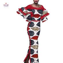 Модные африканские платья Дашики для женщин платье с жемчугом