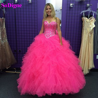 SoDigne Quinceanera Dresses Ball Gown 2020 Beades Sweetheart Party Gown Sweet 16 Dress For 15 Years Debutante Gown