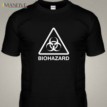 Biohazard Glow In The Dark Danger Symbol Radiation Toxic Logo T Shirt 2019 Men Summer New O Neck Short Sleeve Cotton T Shirt jackall dartrun yonesty o glow