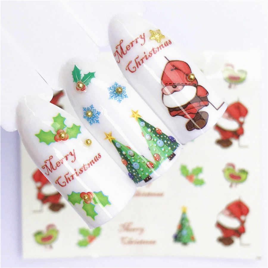 1Pcs Moda Limão Frutas Natal Flocos de Prego Pó Glitter Nail Art Gel UV Polimento de Cromo Pigmento Pó Decorações Manicure
