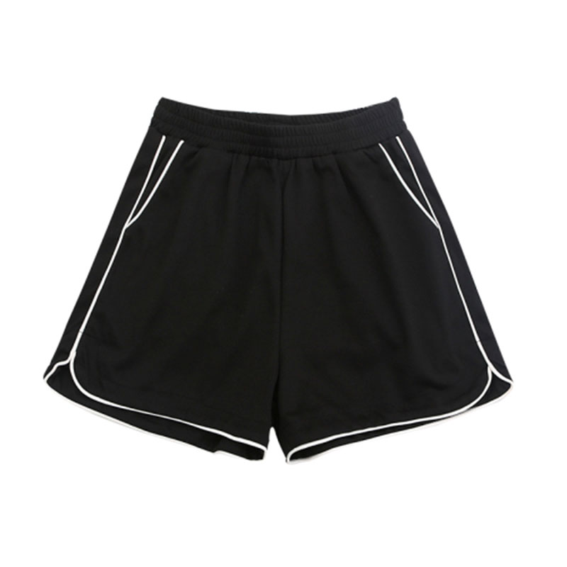 Women's Black Sports Shorts Running Sexy Plus Size Women Shorts Loose Summer Spodenki Damskie High Waist Fitness Solid HH50DK