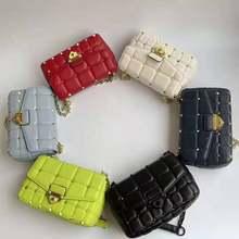 Young Ladies Messenger Bag Fashion Design Shoulder Bag Classic High Quality Caviar Leather Women Handbag