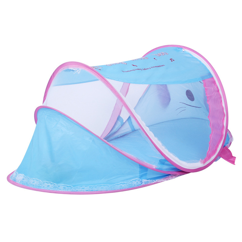 Portable Folding Born Baby Cartoon Bed Mosquito Net Mosquitoes Netting Infant Kids Tent