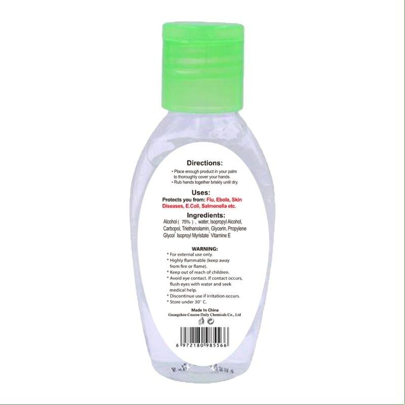 50 мл антибактериальный гель для дезинфицирующего средства для рук Быстросохнущий увлажняющий безжидкий гидроалкулайковый спиртовой гель