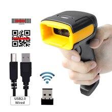 H1W беспроводной 2D сканер штрих-кода и H2WB Bluetooth 1D/2D QR считыватель штрих-кода Sopport мобильный телефон iPad ручной сканер