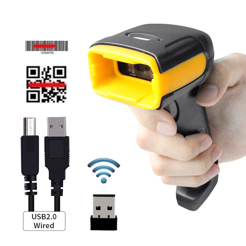 H1W escáner de código de barras inalámbrico 2D y H2WB Bluetooth 1D/2D lector de código de barras QR soporte teléfono móvil iPad lector de mano