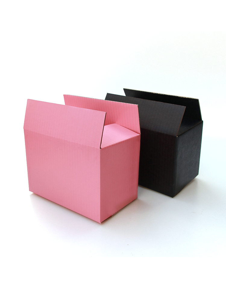 Corrugated-Paper-Packaging Paper-Box Logo Gift Pink Customized-Size 10pcs/black And Box-Supports