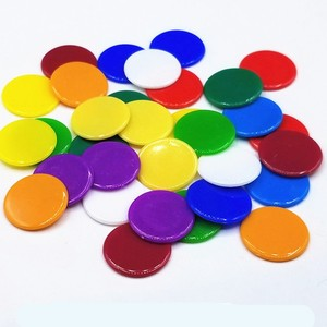 9 colors 19mm Creative Gift Accessories Plastic Poker Chips Casino Bingo Markers Token Fun Family Club Game Toy 50PCS/Set(China)