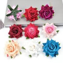 5 adet 6cm yapay çiçek ipek gül çiçek kafa düğün ev dekorasyon Için DIY çelenk karalama defteri el yapımı Sahte çiçek