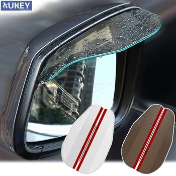 2X drzwi samochodu boczne lusterko wsteczne osłona przeciwdeszczowa deska osłona przeciwdeszczowa osłona przeciwdeszczowa osłona przeciwsłoneczna lusterko wsteczne uniwersalne akcesoria tanie i dobre opinie XUKEY CN (pochodzenie)