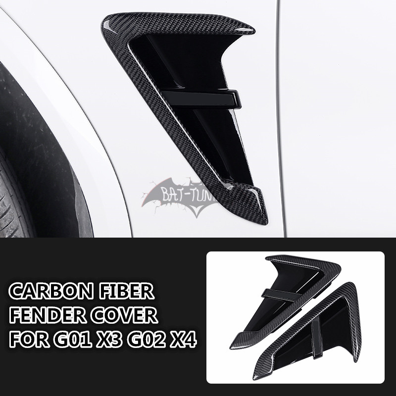 ///M Look Carbon Fiber ABS Fender Trim For <font><b>BMW</b></font> <font><b>G01</b></font> <font><b>X3</b></font> G02 X4 F97 X3M F98 X4M 2018+ Side Vent Stickers Car Styling Air Vent Cover image