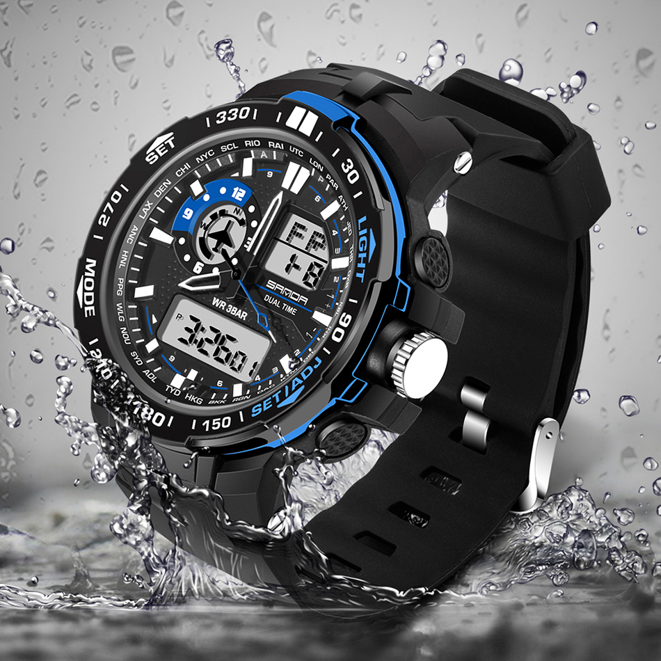 2019 NEW Military Mens Digital watch Waterproof Sport Watch Men Multifunctional S Shock Clock Male