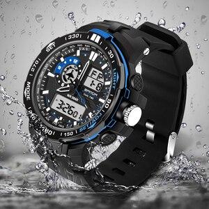 Image 2 - 2020 新軍事メンズデジタル腕時計防水スポーツ腕時計メンズ多機能 S ショック時計男性