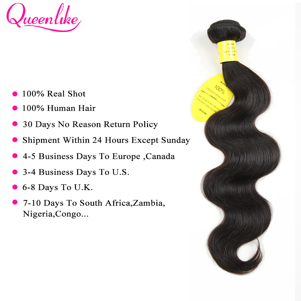 He35d74d4a8a04b3daaeb33b9020396bcu QueenLike Hair Products Brazilian Body Wave With Closure Non Remy Hair Weft Weaving 3 4 Bundles Human Hair Bundles With Closure