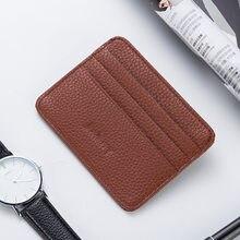 Minimalistische Slim Credit Card Holder Pocket Portefeuilles Id Window Card Voor Mannen Vrouwen