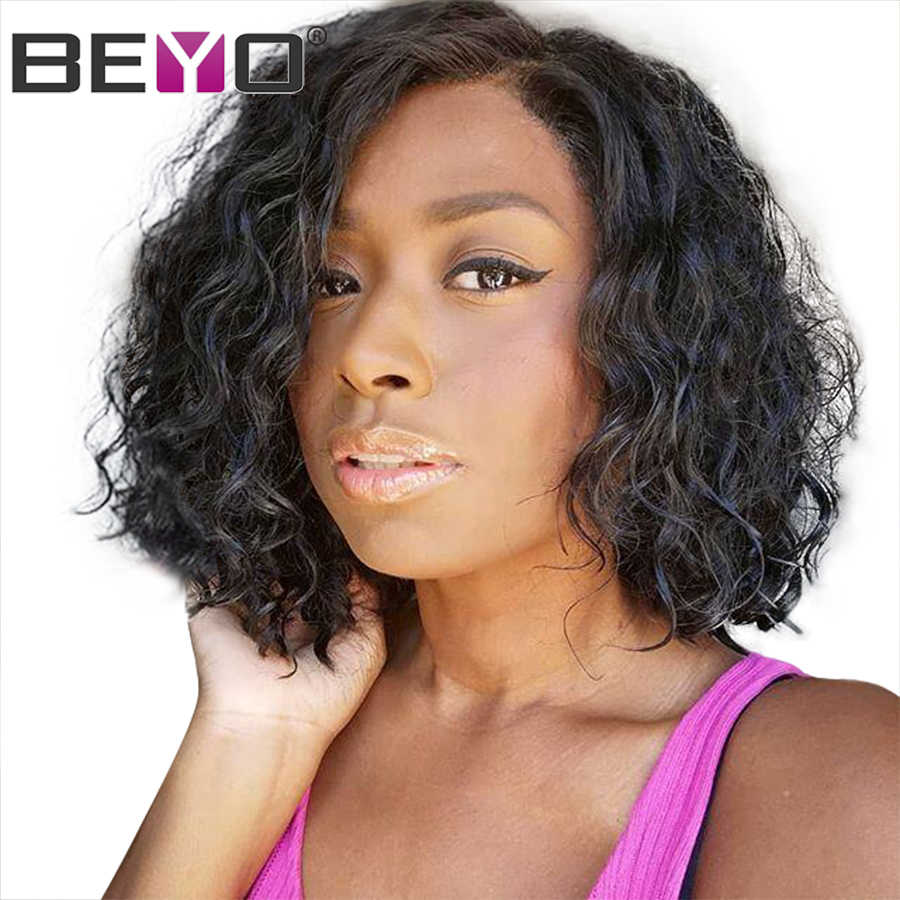 Indian Bob Wig Glueless Lace Frontal Human Hair Wigs For Black Women 150% Density 13x6 Lace Front Wig Remy Lace Wigs Beyo Hair