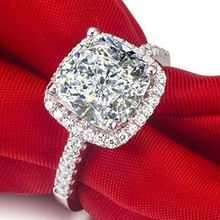 Bridal Wedding Shining Cubic Zirconia Rings Fashion White Gold Color Engagement Micro Pave CZ Finger Ring Women Dainty Jewelry(China)