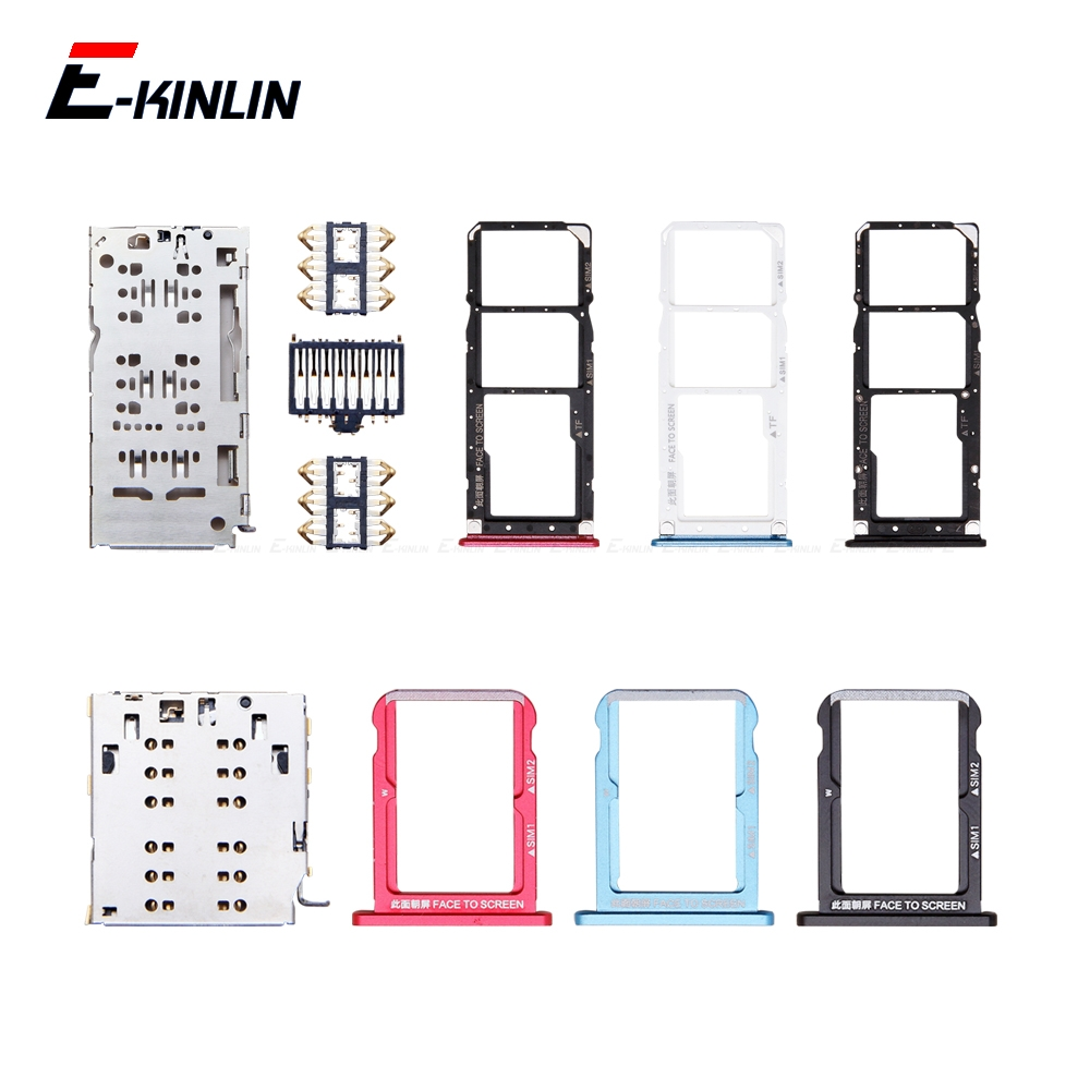 Sim Card / Micro SD Card Tray Socket Holder Slot Container Connector Adapter Reader Replacement Parts For XiaoMi Mi A2 Lite 6X