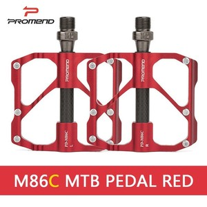Image 2 - PROMEND Mtb דוושת שחרור מהיר כביש אופניים דוושת אנטי להחליק Ultralight אופני הרי דוושות פחמן סיבי 3 מסבים Pedale vtt