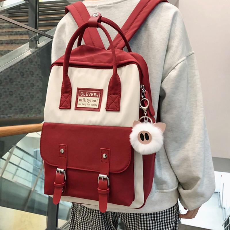 Waterproof Nylon Women Backpack Female Multifunctional Leisure Bag College Students School Bags Women's Travel Backpack 0P09