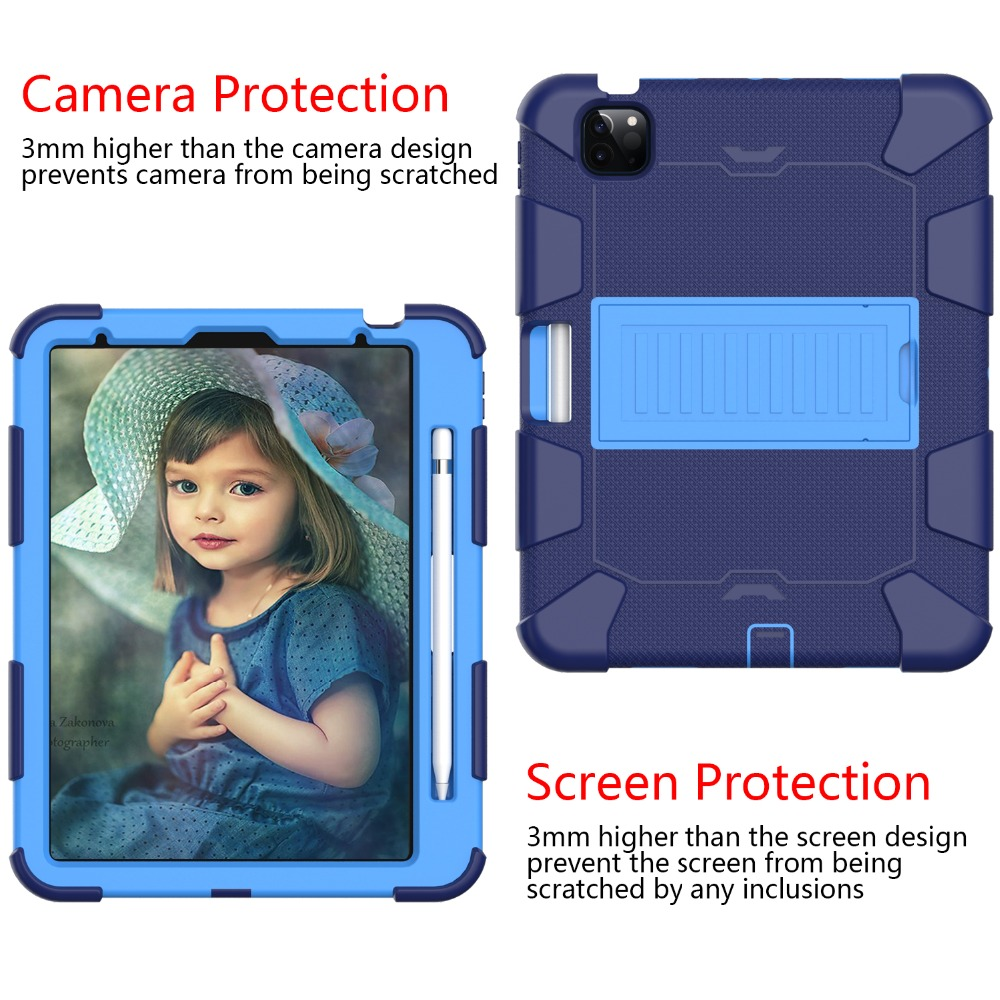 Case Tablet Shockproof 10.9 iPad Rugged Air for Hybird Kids 4 inch Duty Heavy 2020 PC