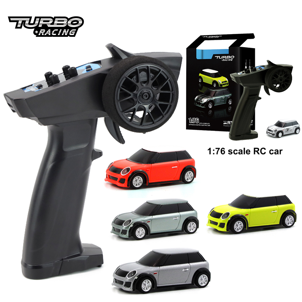 Turbo Racing 1:76 2.4GHZ RC Electric RTR Experience Car With P31 3CH FHS/FHSS Remote Controller Vehicles Release Stress Toy Gift