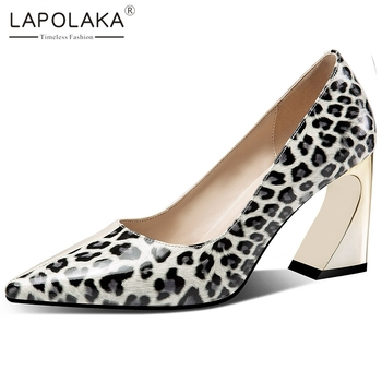 Lapolaka 2020 Hot Fashion Cow Leather Mix Color Strange Style Shoes Woman Pumps Pointed Toe Slip-On Office Pumps Women Shoes
