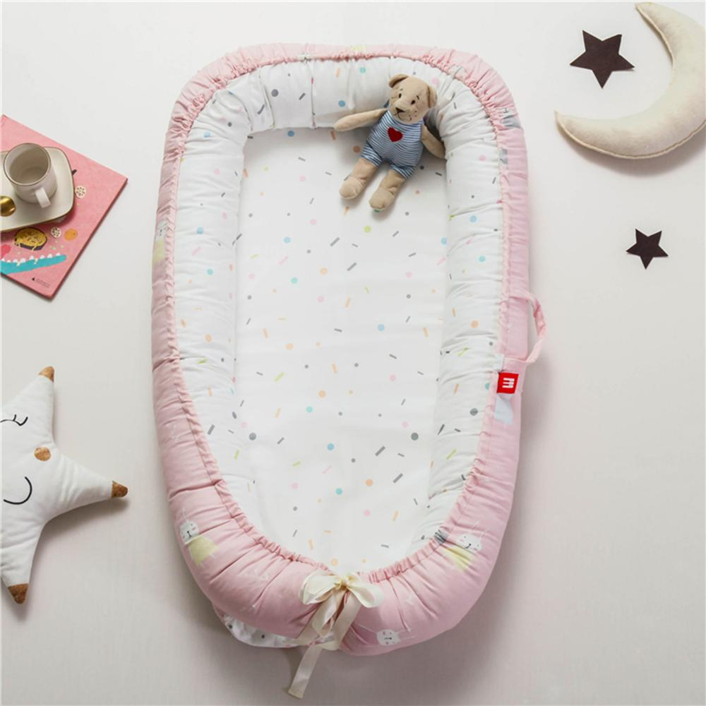 Nordic Infant Nest Bed Crib Matress Bionic Bed With Bumper Portable Baby Traveling Cot Bed Removable Cotton Kids Cradle