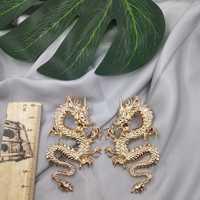 Brincos Para como Mulheres pendientes Aros joyería personalidad americana moda China dragón dominador pendientes Para iniciador de tendencias