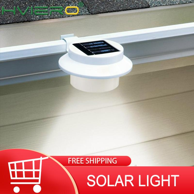 3LED Solar Sink Light Corridor Wall Lamp Courtyard Outdoor Fence Lamp Eaves Solar Street LED Garden Lawn House Solar Light