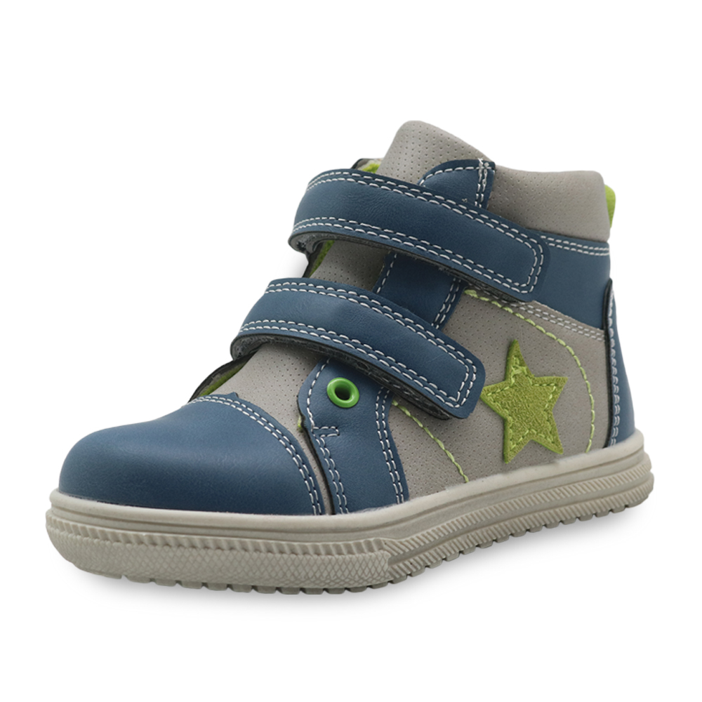 Apakowa Boys Shoes Pu Leather Children's Shoes With Zip Fashion Toddler Kids Ankle Patched Spring Autumn Boots Eur 22-27