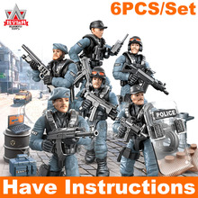 Military Soldiers Call Of Duty Soldiers Army Poilce Action Figure Building Blocks Fit WW2 Mega MiniFigures