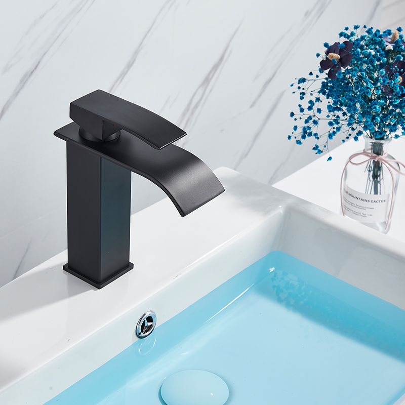 He35eb5b8c7d4488db6e7c043d79afb8cN Rozin Hot cold basin faucet Waterfall Bathroom Vanity Sink Faucet Single Lever Chrome Brass Hot and cold Basin Washing Taps