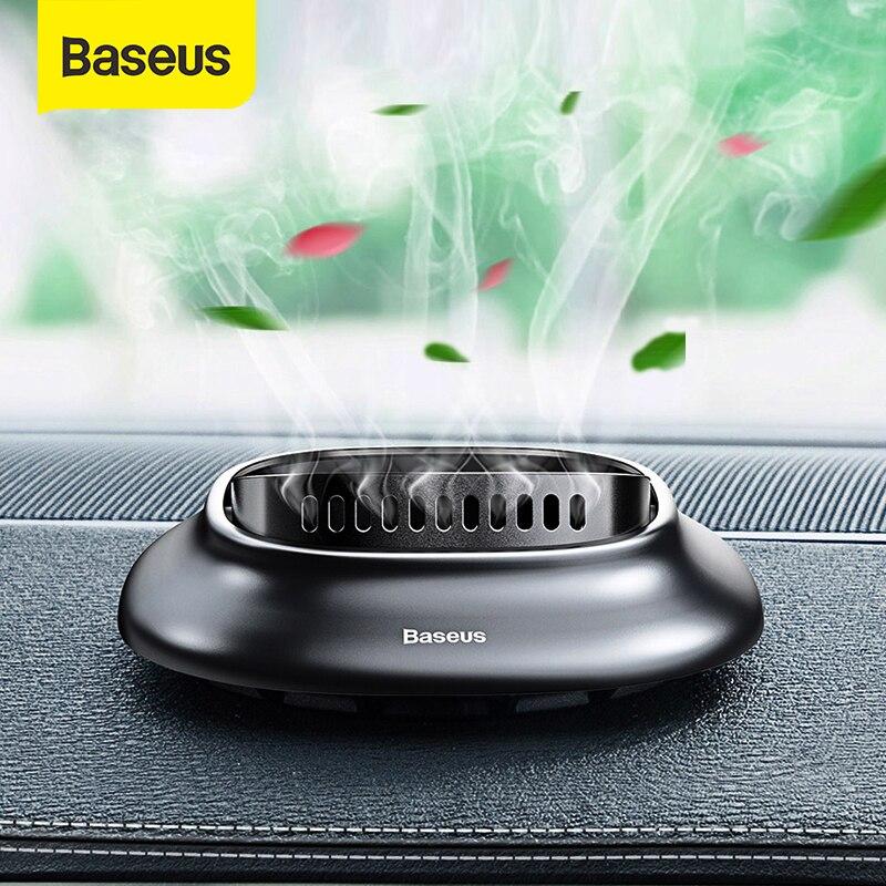 Baseus Mini alaşım araba hava spreyi doğal parfüm parfüm tutucu hava çıkışı aromaterapi katı difüzör araba hava temizleyici